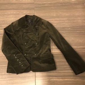 Talbots Velvet Military Style Blazer
